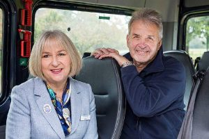 Isobel and David in their new Mercedes-Benz Sprinter Minibus