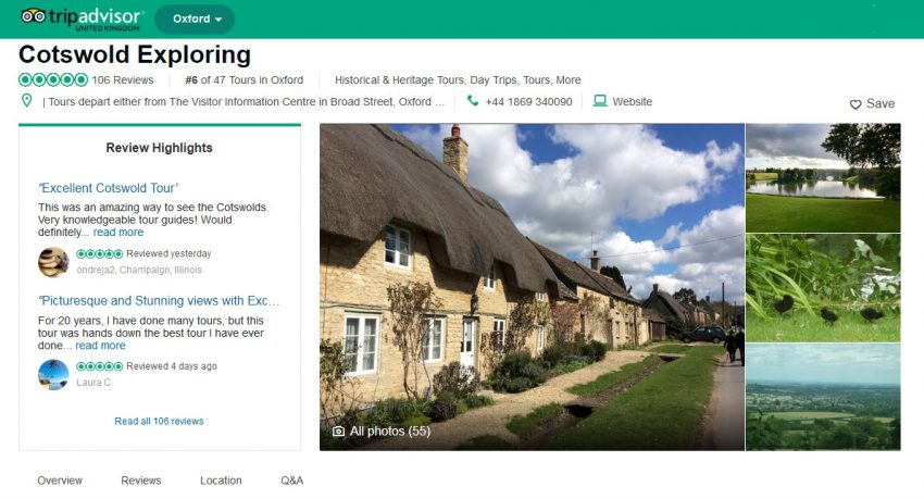 Were Delighted To Have Collected Our 100th 5 Star Review On TripAdvisor It Isnt Quite A Year Since We Launched Cotswold Exploring As The Sister Company